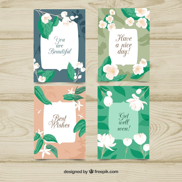Cute pack of flat jasmine cards