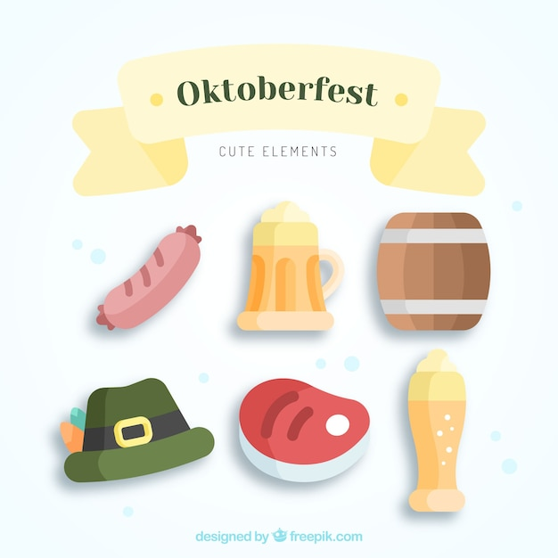 Cute pack of oktoberfest elements