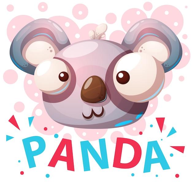 Cute panda characters cartoon illustration. Premium Vector