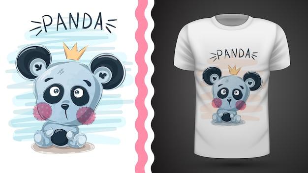 Cute panda - idea for print Premium Vector