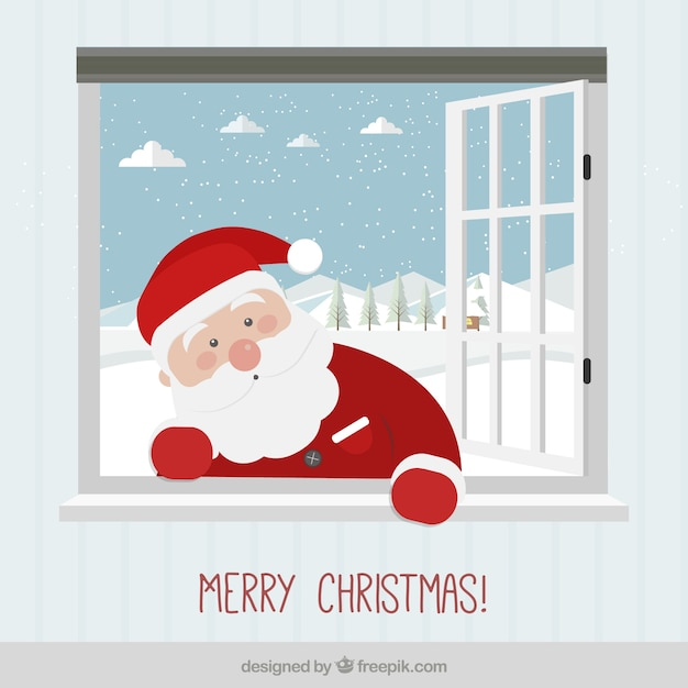 Cute papa noel card vector free download - Papa noel vector ...