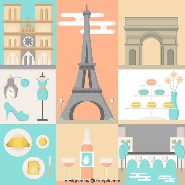Paris Illustration: Cute Paris Illustration Vector