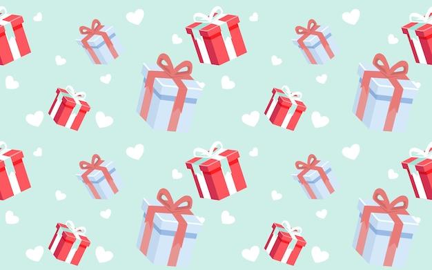 Cute pattern giftbox Premium Vector