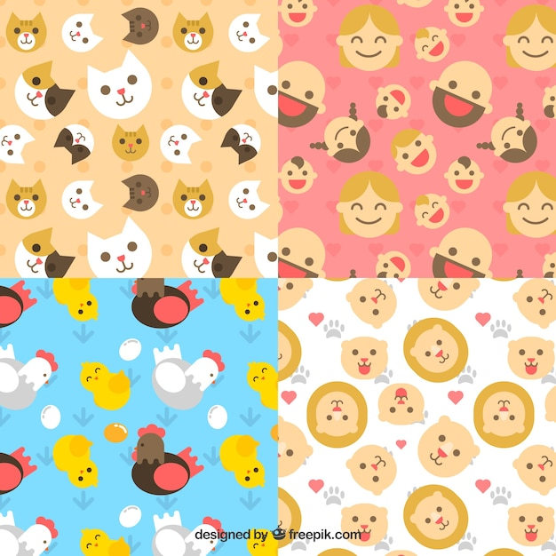 Cute patterns collection for babies with\ toys