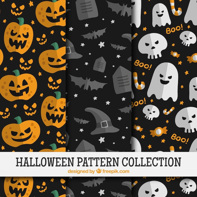 cute patterns of halloween celebration Vector | Free Download
