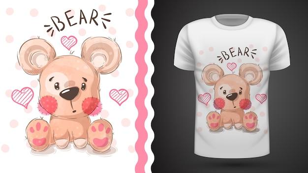 Cute pear - idea for print t-shirt Premium Vector