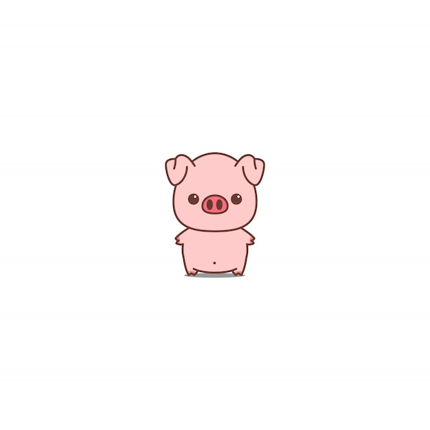 Cute pig icon vector illustration Premium Vector