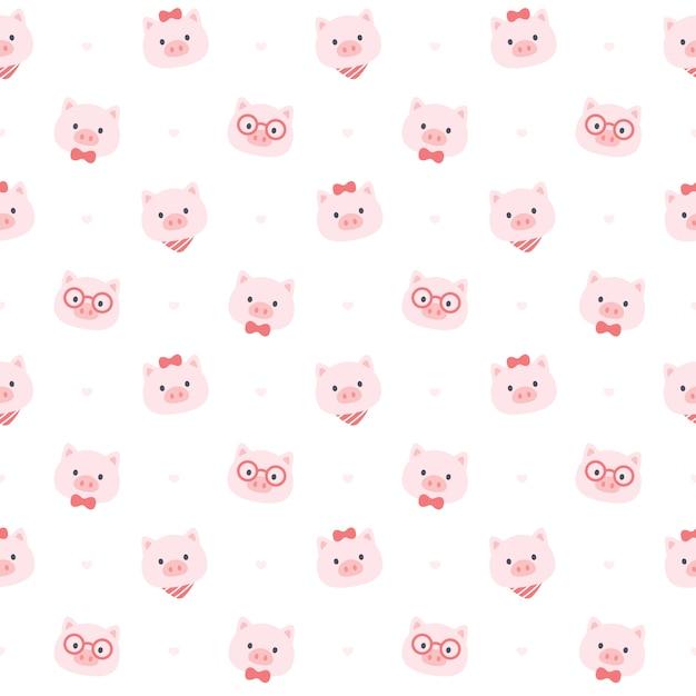 Симпатичная свинья Premium векторы