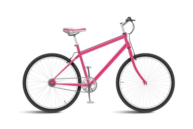Милый розовый велосипед изолированные Бесплатные векторы