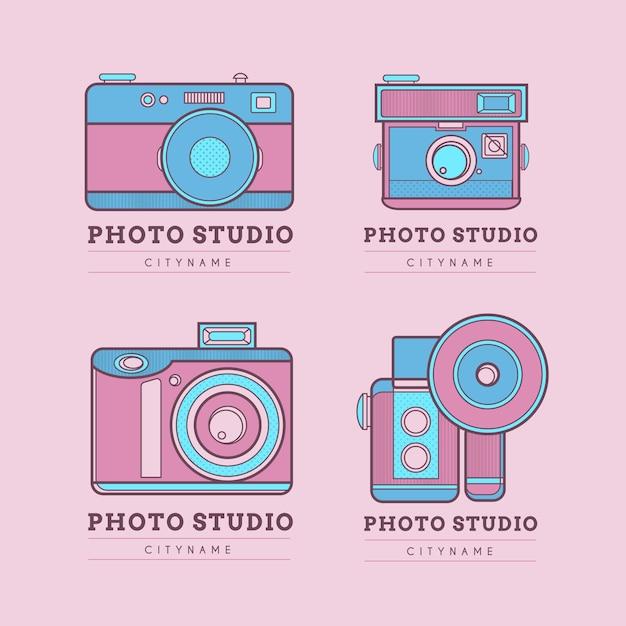 Cute pink photo studio logos