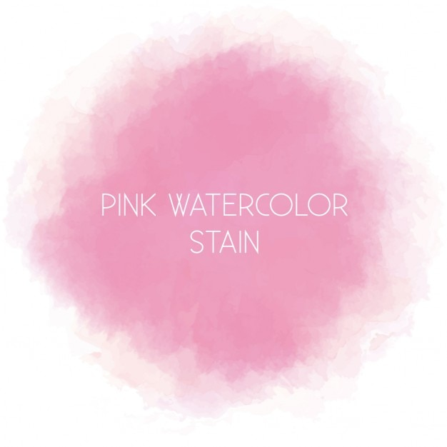 Cute pink watercolor blot Free Vector