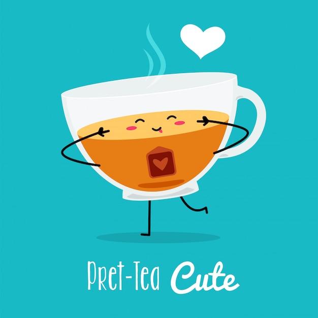 premium vector a cute pose of a tea vector illustration https www freepik com profile preagreement getstarted 3700955