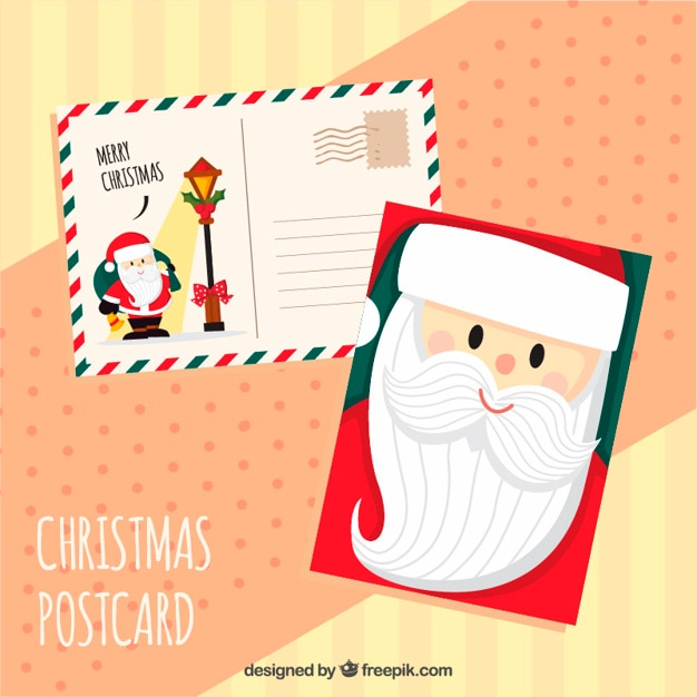 Cute postcards of santa claus
