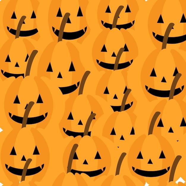 Cute pumpkin seamless pattern Premium Vector