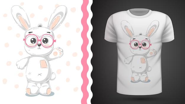 Cute rabbit idea for print t-shirt Premium Vector