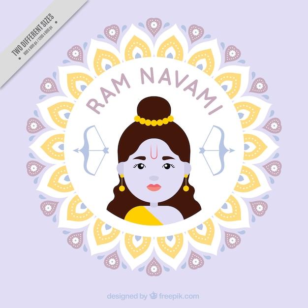 Cute ram navami background