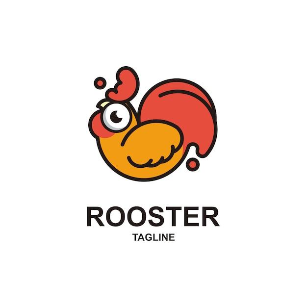 Cute rooster logo Premium Vector