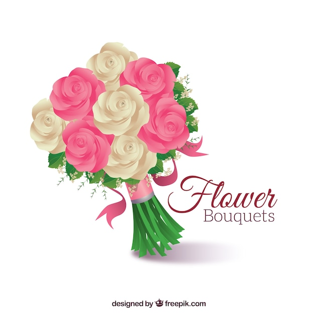 Cute roses bouquet Vector | Free Download