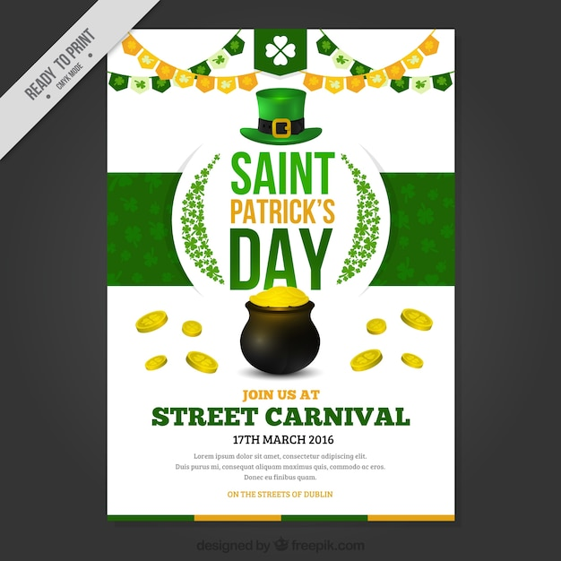 Cute Saint Patrick's day poster with traditional elements Vector ...