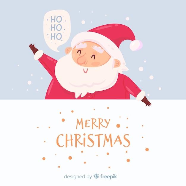 Cute santa claus background Free Vector