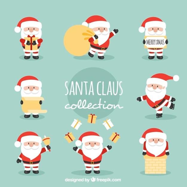 Cute santa claus characters