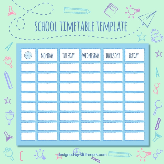 Cute timetable insrenterprises cute timetable pronofoot35fo Gallery