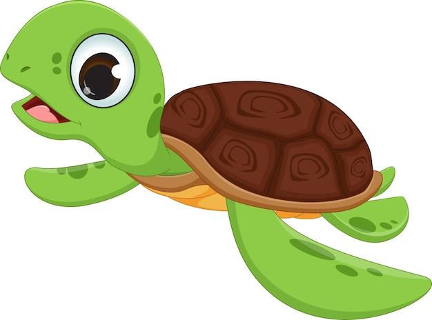 Cute sea turtle cartoon Vector | Premium Download