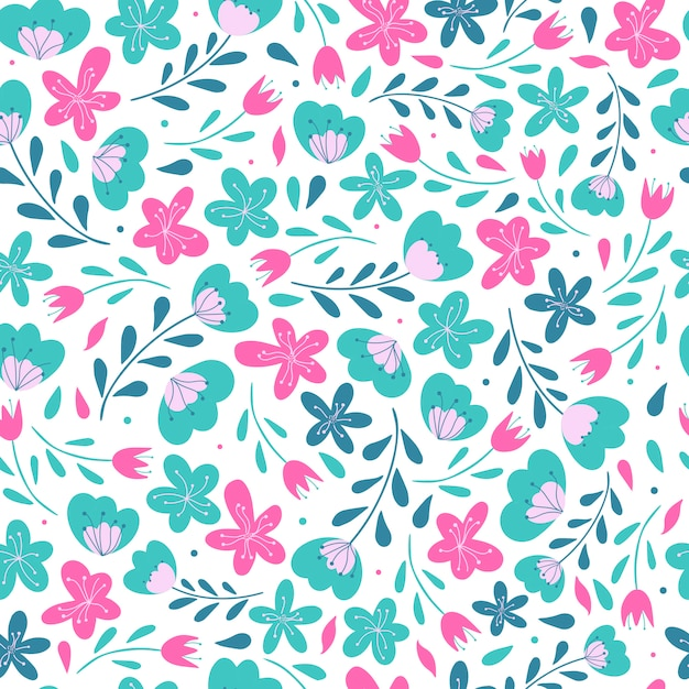 Cute seamless floral pattern design Premium Vector