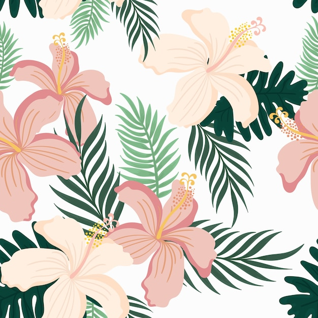 Cute seamless floral pattern Premium Vector