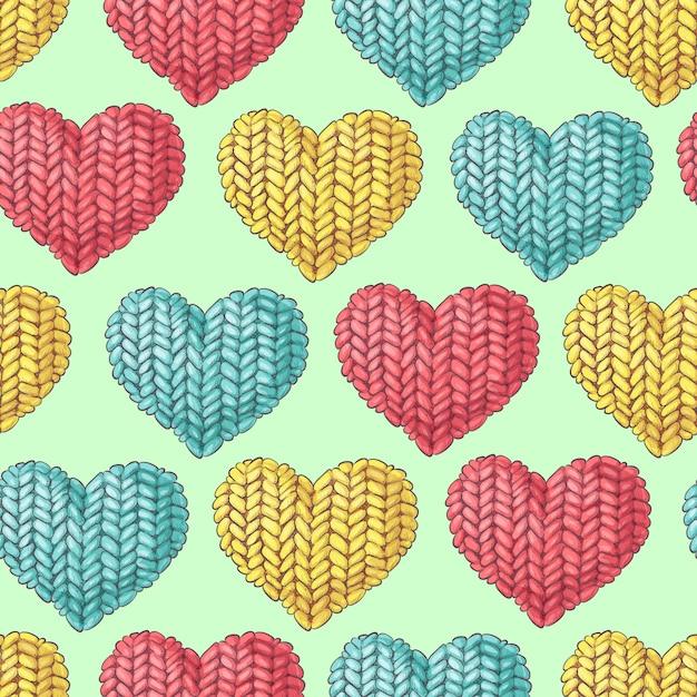Cute seamless pattern of balls of yarn Premium Vector