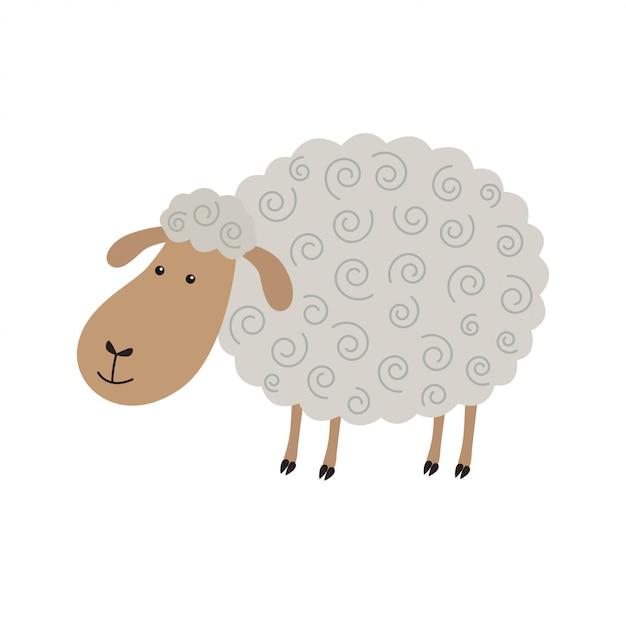 Милый мультфильм овец Premium векторы