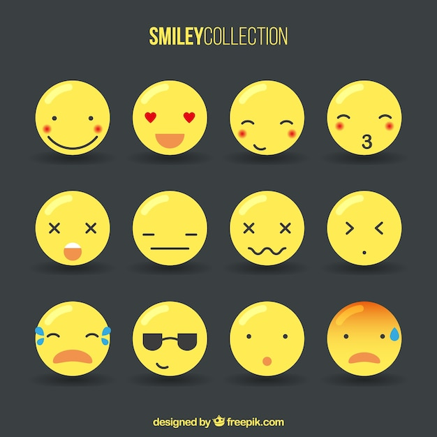Cute Smiley Collection Vector Free Download
