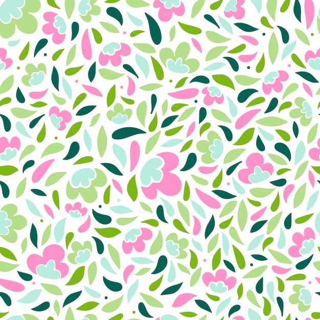 Cute spring seamless pattern Premium Vector