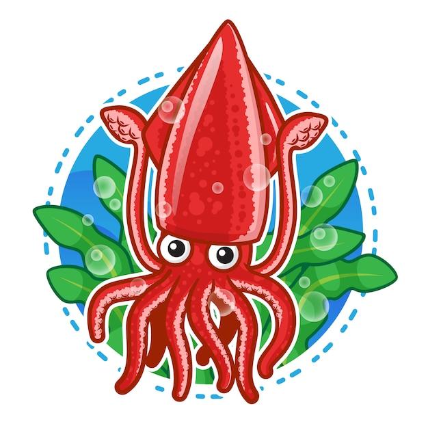premium vector cute squid mascot https www freepik com profile preagreement getstarted 2906793