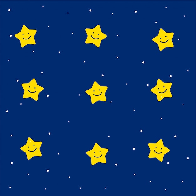 Cute stars pattern for kids Free Vector
