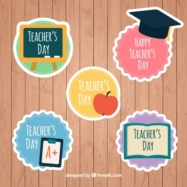 Cute stickers for teacher\'s day