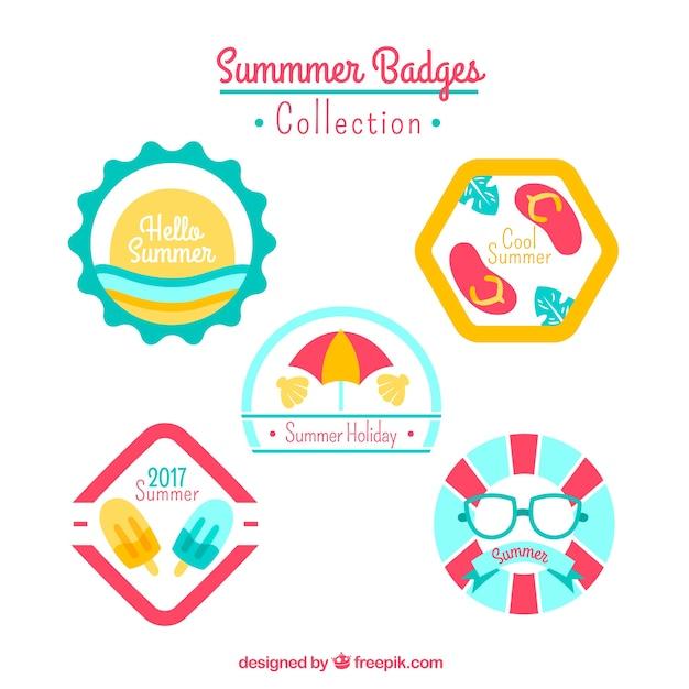 Cute summer badges