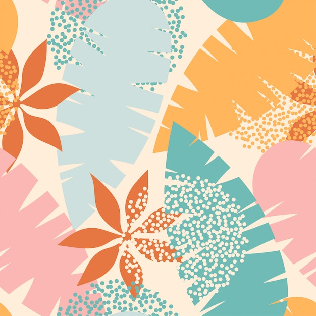 Cute summer floral pattern Premium Vector