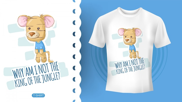 Cute tiger idea for t-shirt Premium Vector