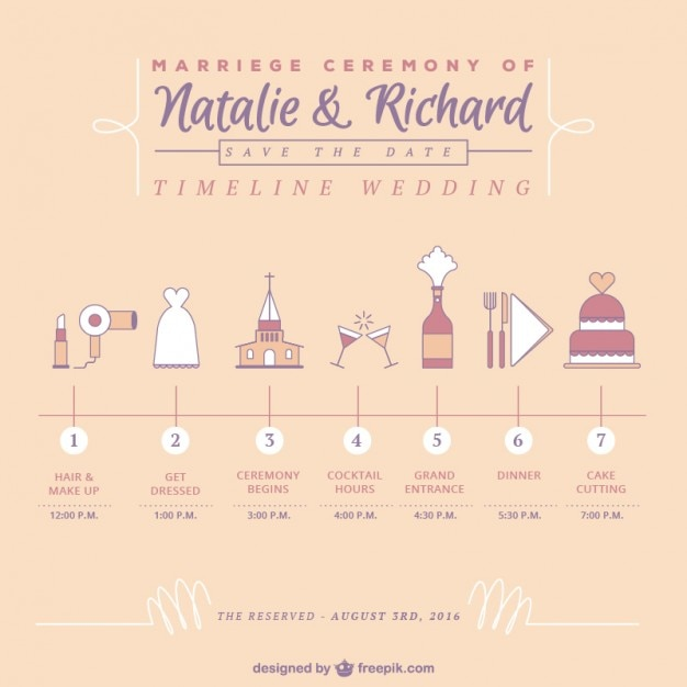 Cute timeline wedding vector free download cute timeline wedding free vector maxwellsz
