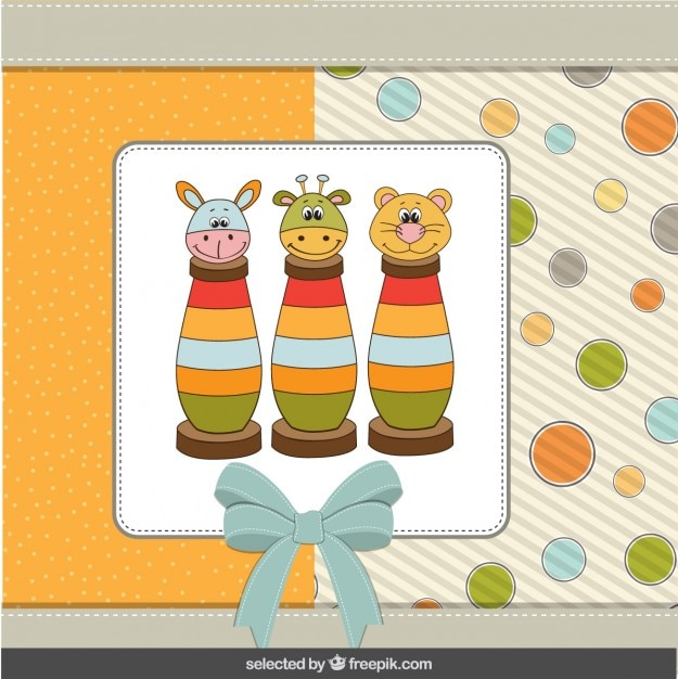 Cute toys baby shower card