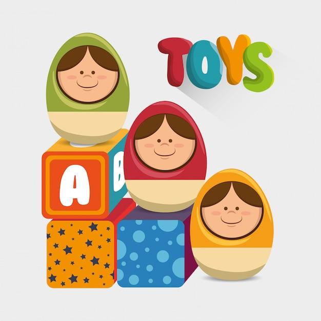 Cute toys design Premium Vector