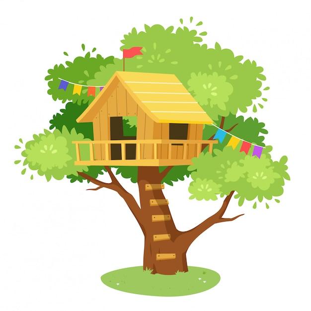 Premium Vector Cute Tree House Cartoon On Jungle Design Cartoon house and tree vectors (24,353). https www freepik com profile preagreement getstarted 5604507