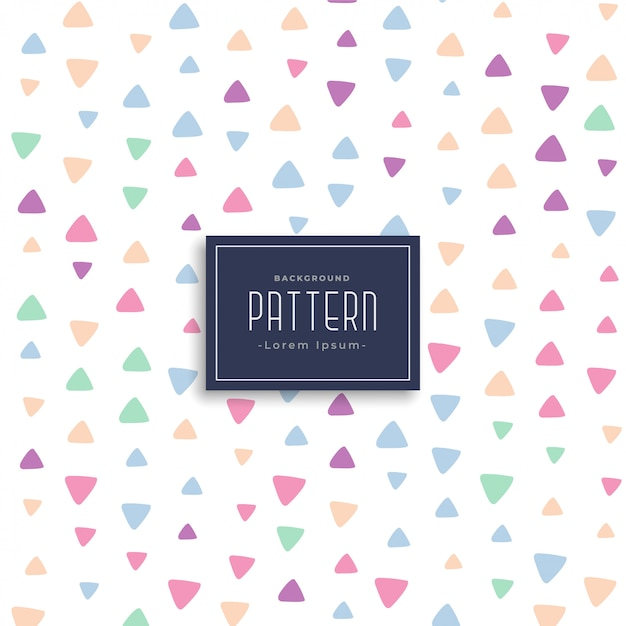 Cute triangle patterns vector background Free Vector