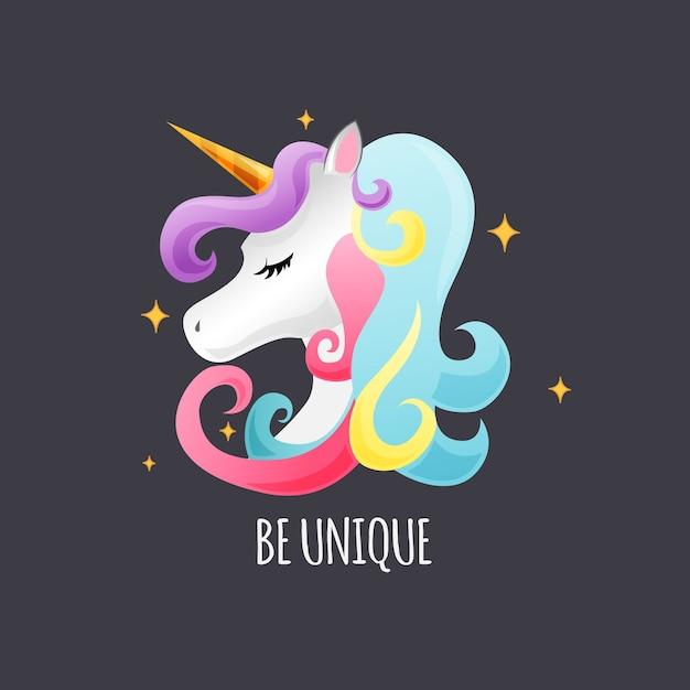 Cute unicorn background Premium Vector