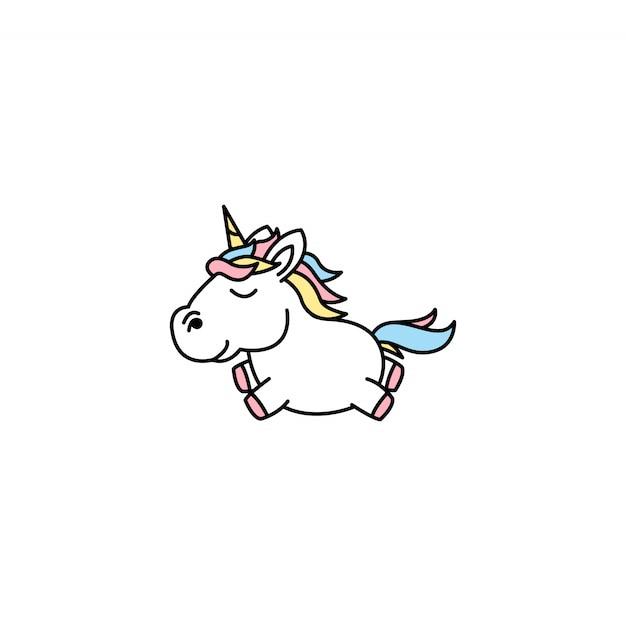 Cute unicorn cartoon vector illustration Premium Vector