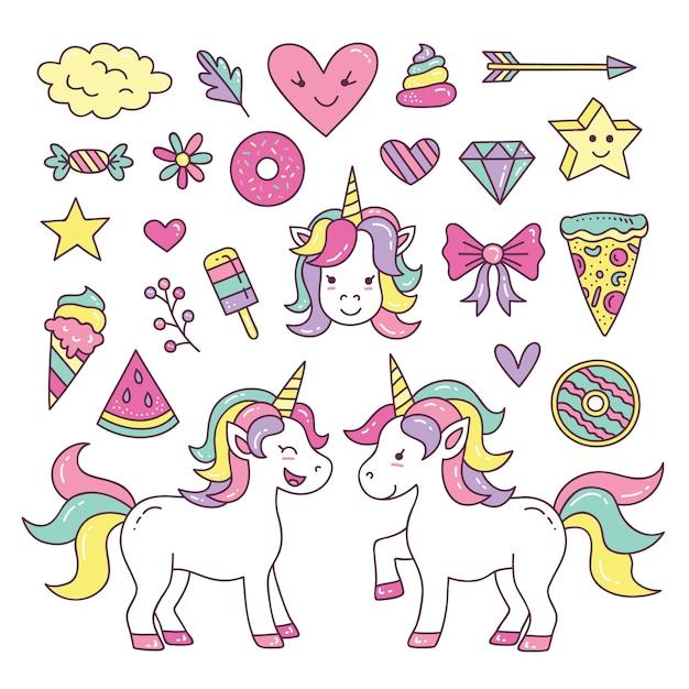 foto de Cute unicorn element collection Vector Premium Download