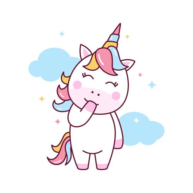 Cute unicorn illustration Premium Vector
