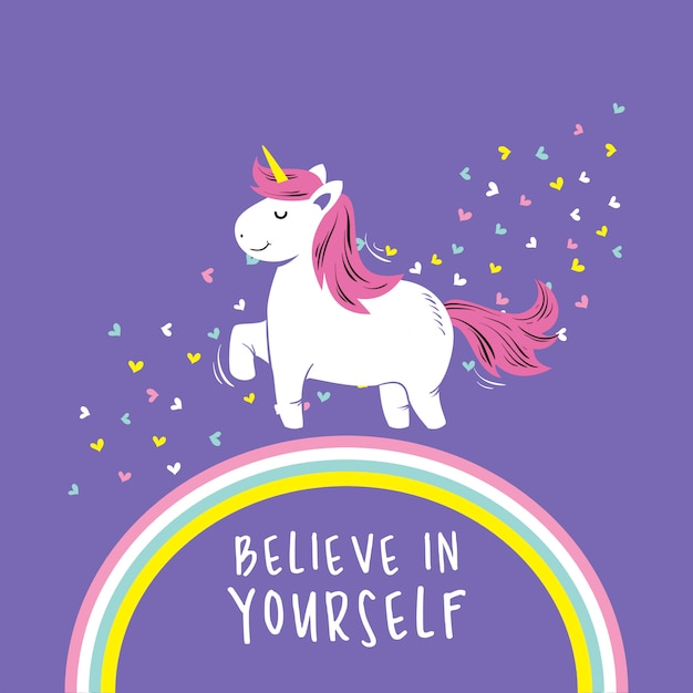 Unicorn Quotes Cute unicorn quotes Vector | Premium Download Unicorn Quotes