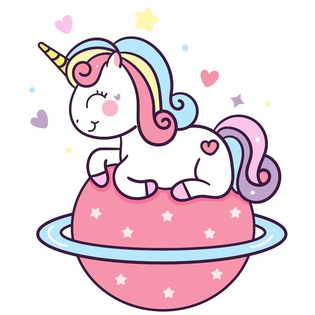 Cute unicorn Premium Vector